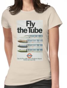 Vintage poster - London Underground Womens Fitted T-Shirt