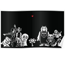 Undertale - Most of the characters Poster