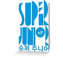 Super Junior ELF K Pop Fan Greeting Card