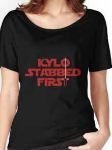 Kylo Stabbed First Women's Relaxed Fit T-Shirt
