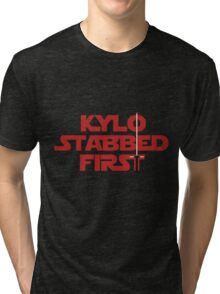 Kylo Stabbed First Tri-blend T-Shirt
