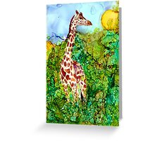 Giraffe In the Brush Greeting Card
