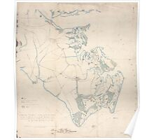 Civil War Maps 0361 Extract from Fort Monroe Norfolk Suffolk and Yorktown with their connections and surroundings for military purposes Poster