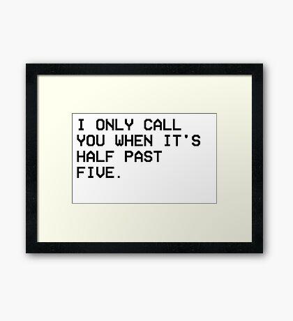THE WEEKND CALL Framed Print