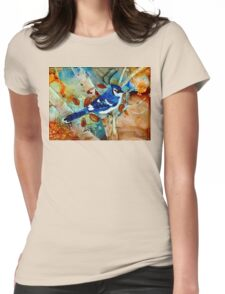 Blue Jay In a Tree Womens Fitted T-Shirt