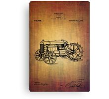 Vintage Ford tractor patent Canvas Print