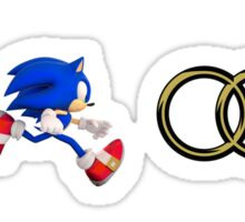 Sonic & Tails Audi Rings Sticker