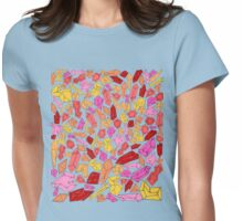 Warm color crystal/ gems Womens Fitted T-Shirt