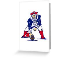 New England Patriot Old Greeting Card