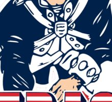 New England Patriot Old 2 Sticker