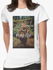 Ewok Thug Life Womens Fitted T-Shirt