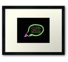 Liam Snake Habitat Tweet Design Framed Print