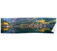 Silver Lake Fall Panorama Poster