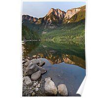 Silver Lake Mountain Reflection Poster
