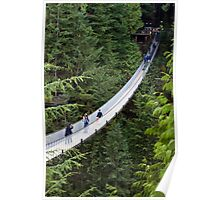 The Capilano Suspension Bridge in North Vancouver Poster