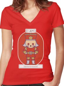 The Dutiful & Musical Women's Fitted V-Neck T-Shirt