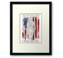 Army Shirt and Hoodie Framed Print