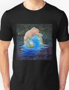 Global Warming Polar Bear and Cubs T-Shirt