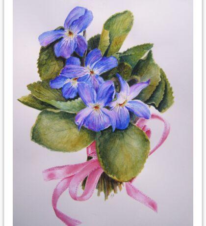 Bouquet for Judi Watercolour Painting Sticker