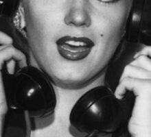 Marilyn on phones Sticker