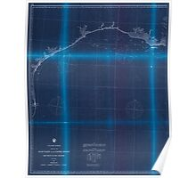 Civil War Maps 0475 Gulf coast of the United States Key West to Rio Grande Inverted Poster