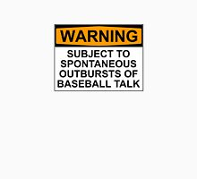 WARNING: SUBJECT TO SPONTANEOUS OUTBURSTS OF BASEBALL TALK Men's Baseball ¾ T-Shirt