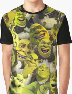 Shrek Collage  Graphic T-Shirt