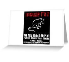 Mouse Rat Concert Poster Greeting Card