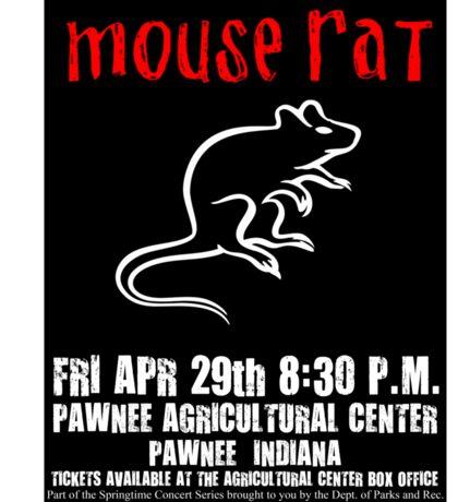 Mouse Rat Concert Poster Sticker