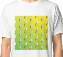 IceCream Pattern Green and Yellow  Classic T-Shirt