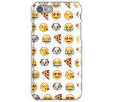 Emoji Pattern Mix White iPhone Case/Skin