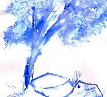 A lonely tree in the veld by Elizabeth Kendall