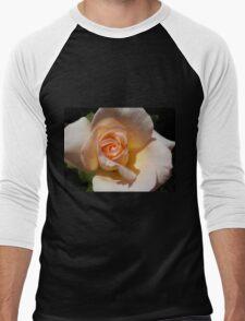 Peach Rose Bud Men's Baseball ¾ T-Shirt