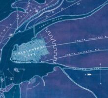 Civil War Maps 0251 Charleston Harbor and city defences Inverted Sticker
