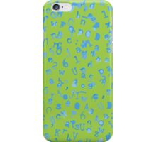 Static Letters - Lime / Sky iPhone Case/Skin