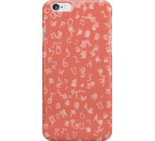 Static Letters - Coral iPhone Case/Skin
