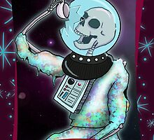 Death in Space Tarot Card by Laura Douglass