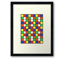 Cube Rubik Colors Framed Print