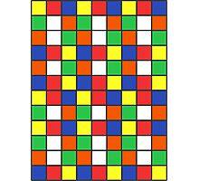 Cube Rubik Colors Photographic Print