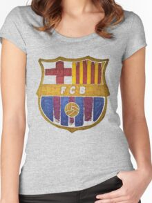 barcelona watercolor Women's Fitted Scoop T-Shirt