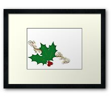 Supportive Holly Framed Print