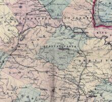 Civil War Maps 1558 Schonberg's Virginia campaign map 1864 Sticker