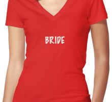 Bride Women's Fitted V-Neck T-Shirt
