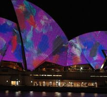 Opera House, Vivid Festival, Sydney, Australia 2010 Sticker