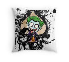 Joker Spade Throw Pillow