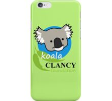 Koala Clancy Foundation - large logo iPhone Case/Skin