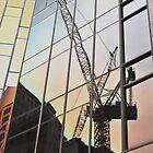 Construction Crane Reflection, Sydney, Australia 2013 by muz2142
