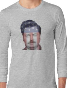 Ron Swanson Long Sleeve T-Shirt