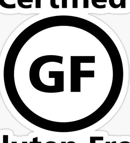 Certified Gluten Free Sticker