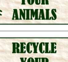 Recycle Your Animals - Fight Club Sticker